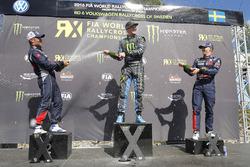 Podium: 1. Andreas Bakkerud, Hoonigan Racing Division; 2. Sébastien Loeb, Team Peugeot Hansen; 3. Ti
