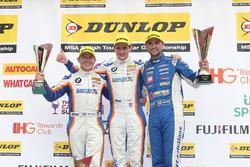 Podium: Sieger Sam Tordoff, Team JCT1600 With Gardx; 2. Andrew Jordan, Motorbase Performance; 3. Rob