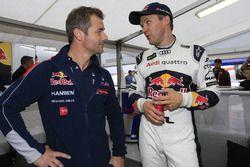 Sébastien Loeb, Team Peugeot Hansen, et Mattias Ekström, EKS RX