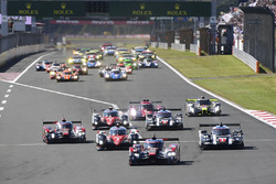 Start: #8 Audi Sport Team Joest, Audi R18 e-tron quattro: Lucas di Grassi, Loic Duval, Oliver Jarvis