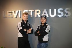 (L to R): Nico Hulkenberg, Sahara Force India F1 with team mate Sergio Perez, Sahara Force India F1