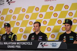 Thomas Lüthi, Garage Plus Interwetten; Johann Zarco, Ajo Motorsport; Alex Rins, Paginas Amarillas HP
