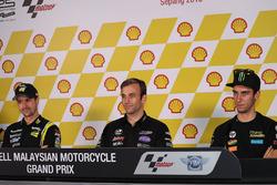 Thomas Lüthi, Garage Plus Interwetten; Johann Zarco, Ajo Motorsport; Alex Rins, Paginas Amarillas HP