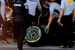 Pirelli tyres for the Mercedes AMG F1 team