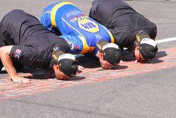 Racewinnaar Alexander Rossi, Herta - Andretti Autosport Honda, Michael Andretti, Bryan Herta