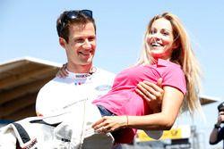 Sébastien Ogier con la moglie Andrea Kaiser