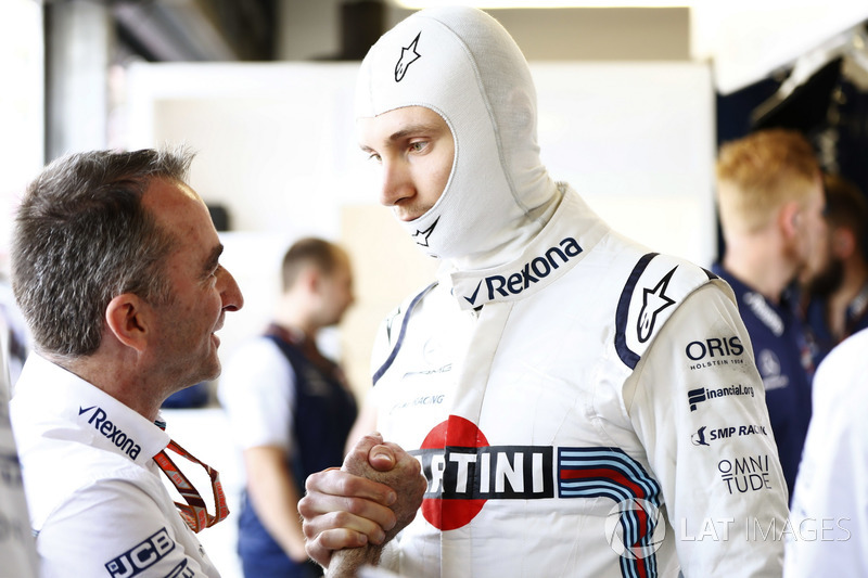 Sergey Sirotkin, Williams Racing, avec Paddy Lowe, Williams Racing