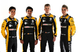 Carlos Sainz Jr., Nico Hulkenberg, Renault Sport F1 Team, Jack Aitken, Renault Sport F1 Team RS18 Test and Reserve Driver, Artem Markelov, Renault Sport F1 Team Test and Development Driver