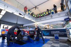 L'espace Hyundai Motorsport sur le parc d'assistance
