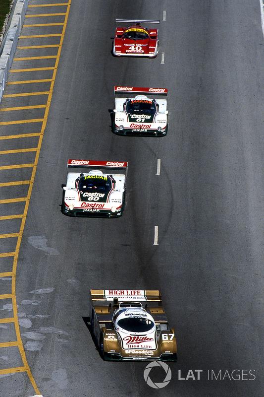 Bob Wollek, Derek Bell y John Andretti, Porsche 962