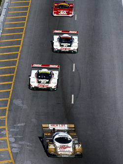 Bob Wollek, Derek Bell and John Andretti, Porsche 962 are leading
