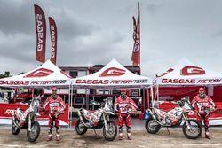 Jonathan Barragán, Johnny Aubert and Cristian España, GasGas Rally Team