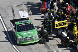 Ben Rhodes, ThorSport Racing, Ford F-150 , makes a pit stop