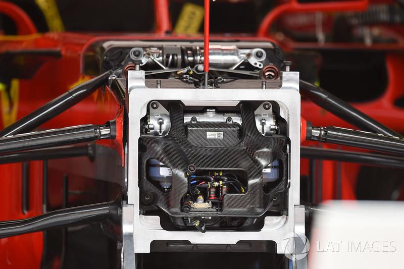 Détails du châssis de la Ferrari SF71H