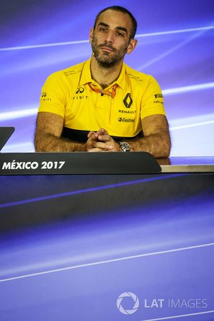 Cyril Abiteboul, Renault Sport F1 Managing Director in the Press Conference