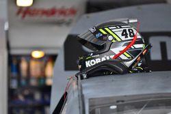 Jimmie Johnson, Hendrick Motorsports Chevrolet, helmet