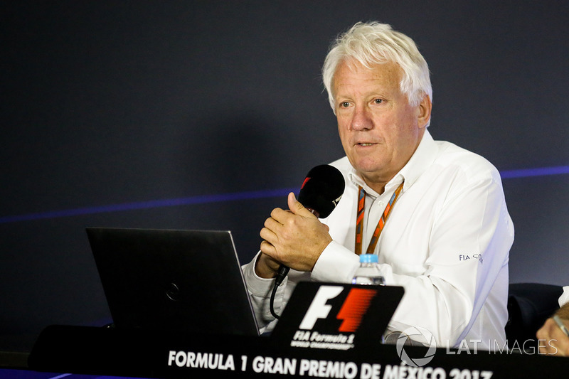 Charlie Whiting, FIA Delegate in the Press Conference discussing the Kimi Raikkonen, Ferrari and Max Verstappen, Red Bull Racing incident at United States Grand Prix