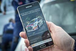 La notizia della vittoria di Paolo Andreucci, Anna Andreussi, Peugeot 208 T16 R5, Peugeot Sport Italia su uno smartphone