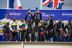 Podium: vainqueur #15 RLR Msport Ligier JS P3 - Nissan: John Farano, Job Van Uitert, Robert Garofall, deuxième place #17 Ultimate Ligier JS P3 - Nissan: Matthieu Lahaye, Jean Baptiste Lahaye, François Heriau, troisième place #11 Eurointernational Ligier JS P3 - Nissan: Giorgio Mondini, Kay Van Berlo