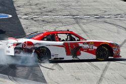 Ryan Preece, Joe Gibbs Racing, Toyota Camry Rheem celebrates his win