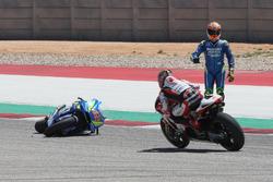 Crash of Alex Rins, Team Suzuki MotoGP