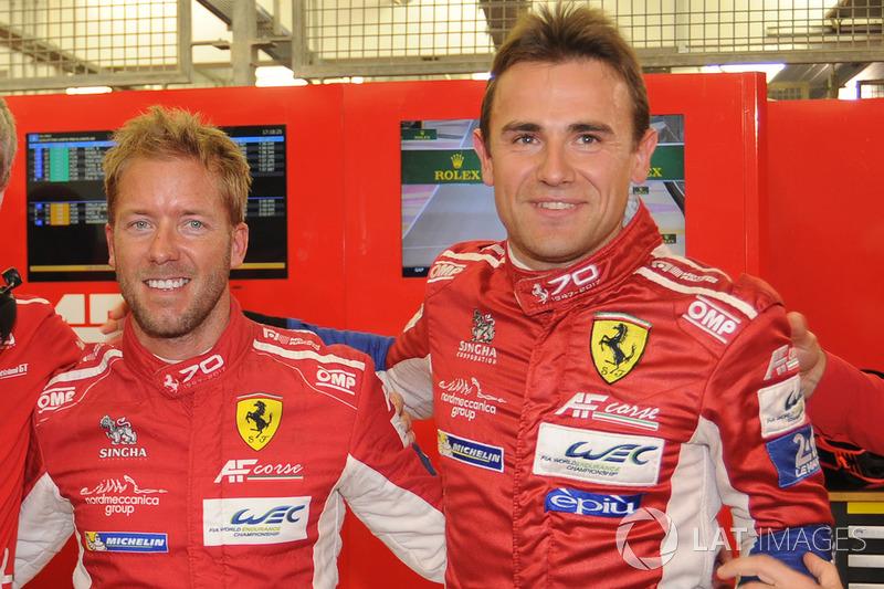 LMGTE PRO ganadores de la pole Davide Rigon, Sam Bird, AF Corse