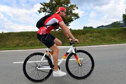 Sebastian Vettel, Ferrari on his bike