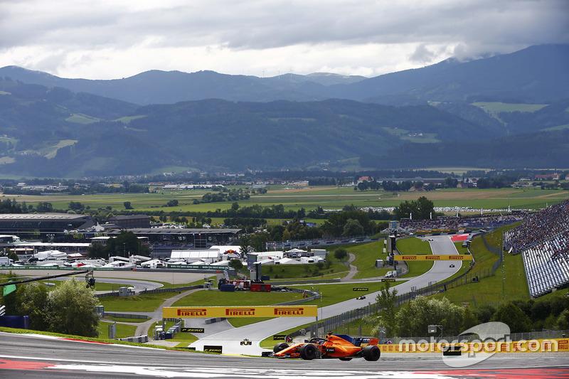 Fernando Alonso, McLaren MCL33, avec des capteurs pour des essais aérodynamiques