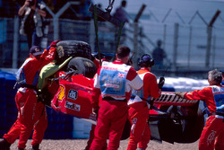 Michael Schumacher, Ferrari, crash