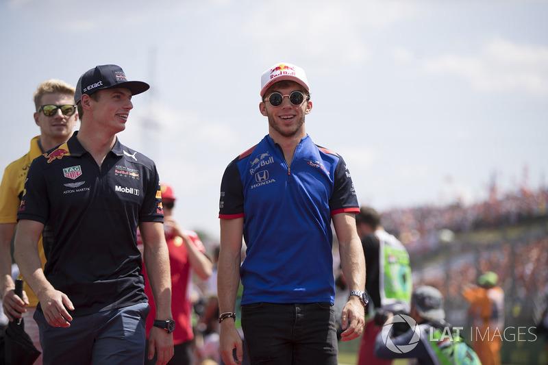 Max Verstappen, Red Bull Racing y Pierre Gasly, Toro Rosso