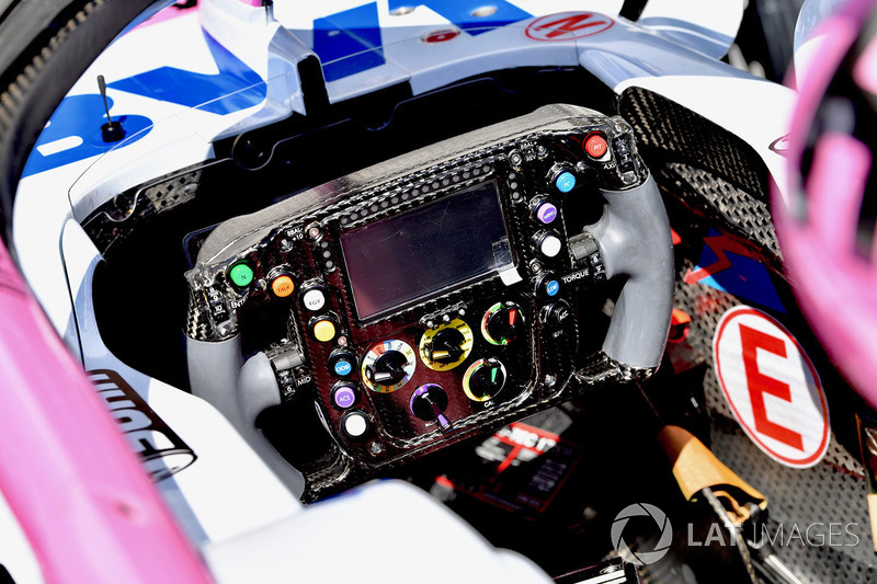 Force India VJM11 steering wheel