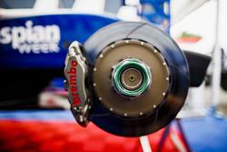 Wheel nut and brake detail.