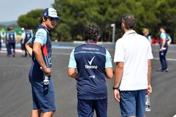 Lance Stroll, Williams con Luca Baldisserri, ingeniero de carrera de Williams