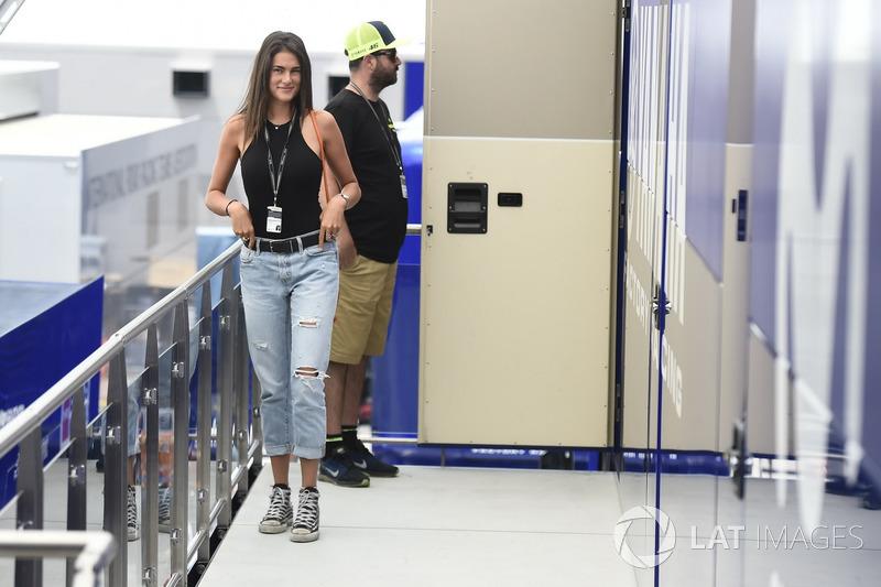 Francesca Sofia Novello, girl friend of Valentino Rossi, Yamaha Factory Racing