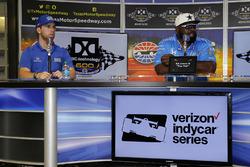 Ed Jones, Chip Ganassi Racing Honda press conference with former Dallas Cowboys defensive end Ed Too