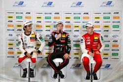 Press conference, Enaam Ahmed, Hitech Bullfrog GP Dallara F317 - Mercedes-Benz, Jüri Vips, Motopark Dallara F317 - Volkswagen, Marcus Armstrong, PREMA Theodore Racing Dallara F317 - Mercedes-Benz