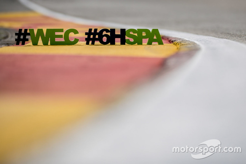 6 Hours of Spa Francorchamps and WEC hashtag logo