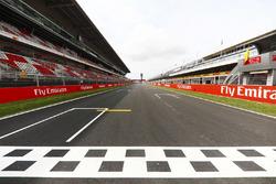 Start / finish van Circuit de Barcelona-Catalunya