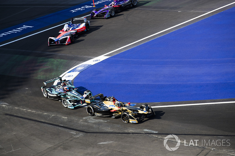 Andre Lotterer, Techeetah, Mitch Evans, Jaguar Racing, Nick Heidfeld, Mahindra Racing, Alex Lynn, DS Virgin Racing