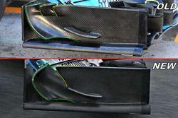 Mercedes F1 W09 detail voorvleugel