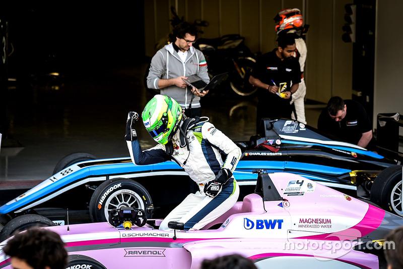 Le vainqueur David Schumacher, Rasgaira Motorsports