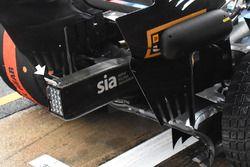 Williams FW41, apró légterelő a kocsi hátulján