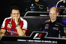 Nicholas Tombazis, Ferrari Chief Designer and Adrian Newey, Red Bull Racing Chief Technical Officer