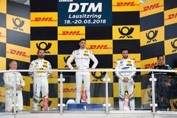 Podium: Race winner Edoardo Mortara, Mercedes-AMG Team HWA, second place Timo Glock, BMW Team RMG, third place Philipp Eng, BMW Team RBM