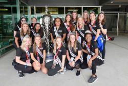 500 Festival Princesses with Borg Warner Trophy, atmosphere