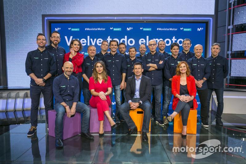 Todo el equipo de Movistar + Motor