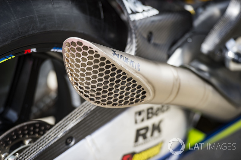 Team Suzuki MotoGP exhaust detail