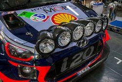 Andreas Mikkelsen, Anders Jäger, Hyundai i20 WRC, Hyundai Motorsport detalle
