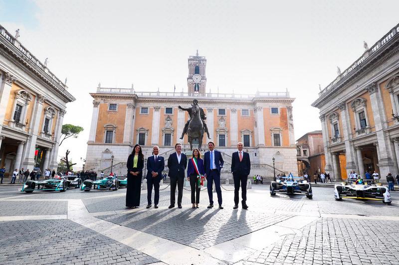 La presentazione della Formula E a Roma