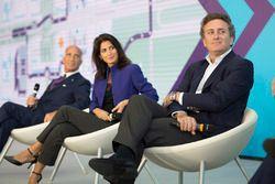 Alejandro Agag, CEO Formula E, with Mayor of Rome Virginia Raggi